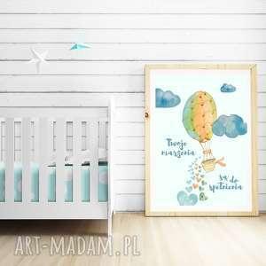 pokoik dziecka plakat od well-well / marzenia a3, marzenia, balon, chmury, niebo