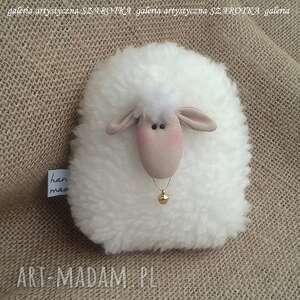 owieczka, baranek rozm s - dekoracja tekstylna, ooak, dekoracja, ozdoba