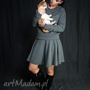 Dresowy komplet-spodncia i bluza z kapturem, dresowy, wygodny, bluza, spodncia