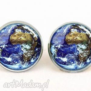 Ziemia - Kolczyki wkręty - ,kolczyki,sztyfty,wkręty,ziemia,planeta,kosmos,