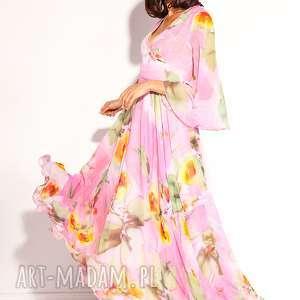 sukienki sukienka dalida, wesele, poprawiny, szyfonowa, pastelowa, długa