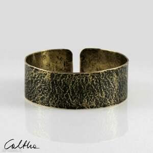kamień - mosiężna bransoleta 202207-04, bransoletka, bransoleta, mosiężna, złota