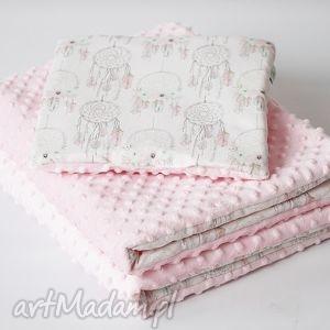zestaw niemowlaka Łapacze róż - kocyk, podusia, poduszka