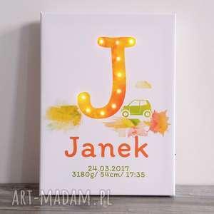 hand made dla dziecka świecąca metryczka imię prezent urodziny roczek