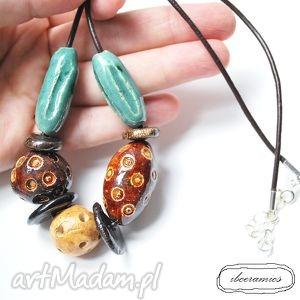 ceramiczne korale, naszyjnik, ceramika - korale, naszyjnik, ceramika, biżuteria