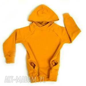 musztardowa ciepła bluza dziecięca, rozmiary 68-128, bluza, musztarda