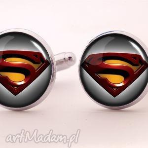 egginegg superman ii - spinki do mankietów - czerwone spinki, bohater
