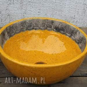 ręcznie robione ceramika mała umywalka nablatowa