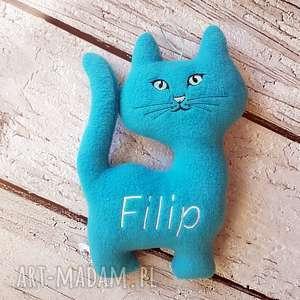 personalizowany kotek - przytulanka, metryczka, kot, personalizacja, haft, imie