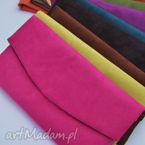 ręczne wykonanie kopertówki kopertówka z alcantary - wybór kolorów