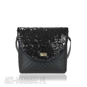 964e641781492 Torebka mala czarna na ramięsprzedane torebka puro 1500 sequins black