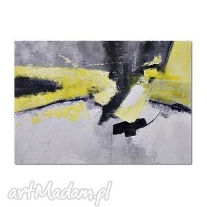 abstrakcja ygbn, nowoczesny obraz ręcznie malowany