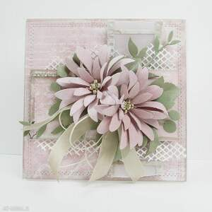 Pudrowy róż - w pudełku scrapbooking kartki marbella ślub