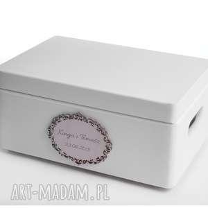 Prezent Ślubne pudełko na koperty Personalizowane, ślub, wesele, pudełko-na-koperty