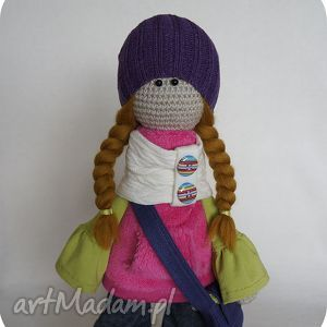 Szydełkowa lalka Scarlett - ,lalka,dekoracja,prezent,