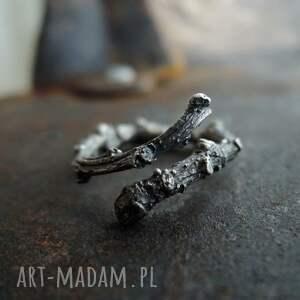 gałązka - delikatny pierścionek srebrny, pierścionek