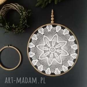 dekoracje łapacz snów 44 cm, snów, lapacz, dekoracja ścienna, koronka