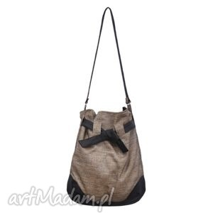 12 -0011 złota torba worek xxl torebka na zakupy sparrow maxi