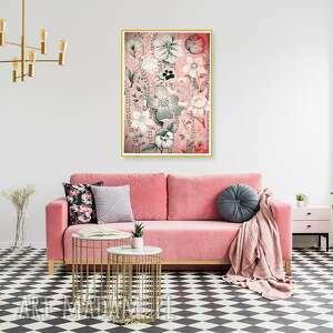 kwiaty 50x70cm, kwiaty, kwiat, sztuka, obraz, aranżacja