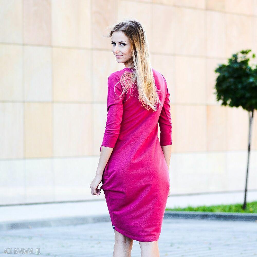 fioletowe sukienki sukienka gentle dresowa