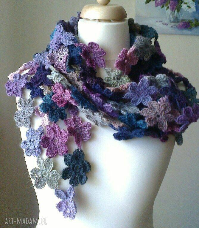 chustki i apaszki artystyczny beart art crochet 4