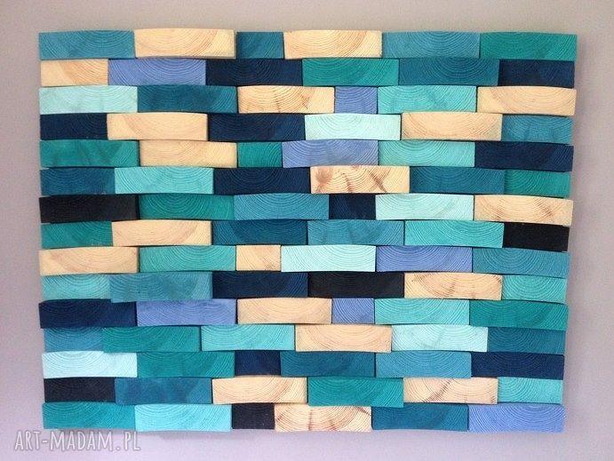 unikalne obrazy mozaika drewniany obraz na zamówienie