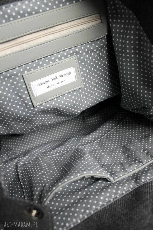 na ramię nowoczesna hobo sack - sakiewka szara