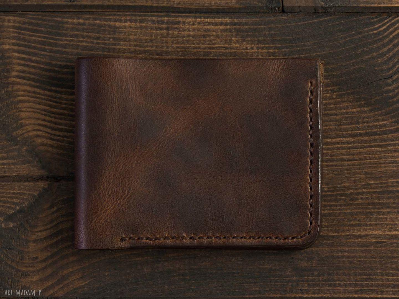 portfele portfelik bifold brązowy