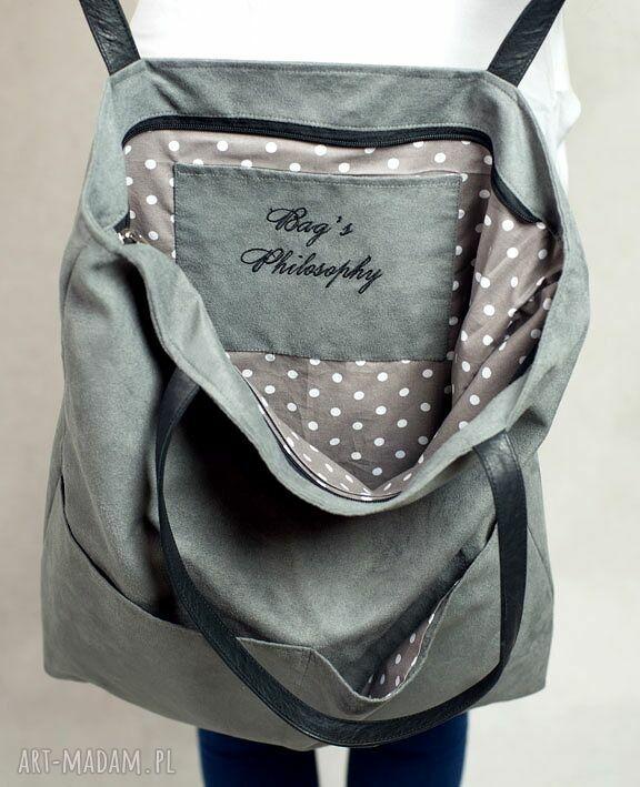czarne torebki torba kangoo l g. the grey