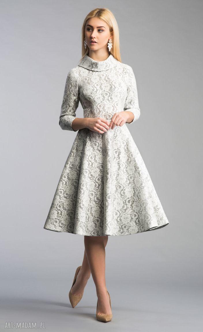 sukienki koronka sukienka donna midi noemi