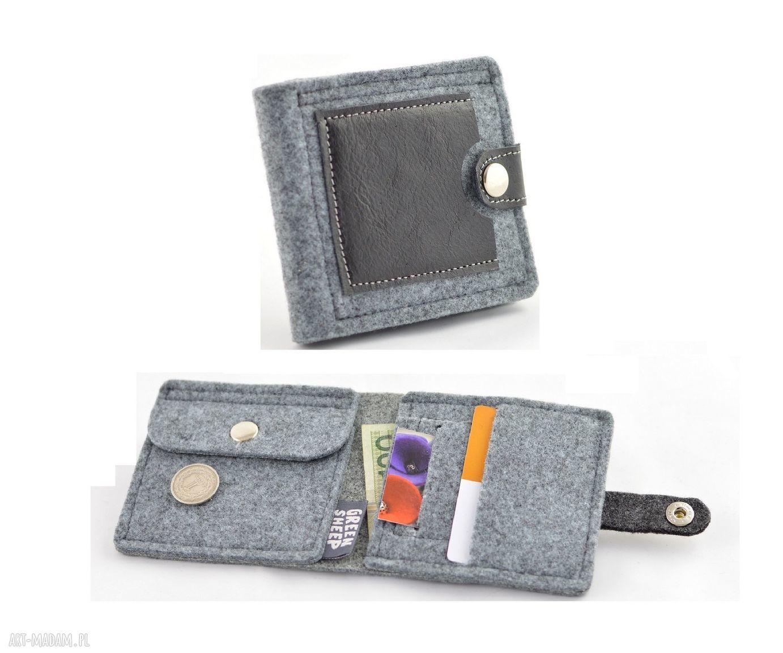 hand-made portfele minimalistyczny portfel- mini- unisex