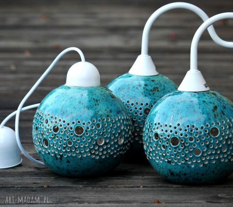lampa lampy turkusowe ball kinkiet turkusowy