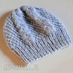 czapki ciepła czapka alpaka, czapka, alpaka, na drutach