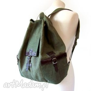 0ea5f17fddb0d wyraziste plecaki, torebki - plecak harcerski brezent skóra