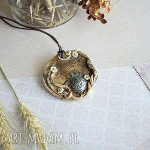 Wisior medalion ze stylowym guzikiem wisiorki sirius92