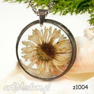 1004 naszyjnik z suszonymi kwiatami herbarium, naszyjnik, zsuszonychkwiatów