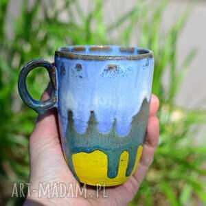 ceramika wysoki kubek ceramiczny do late macchiato żółty s 300 ml