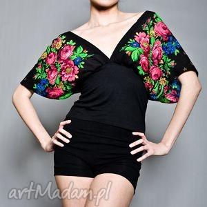 ręcznie wykonane bluzki kimonowa bluzka folk