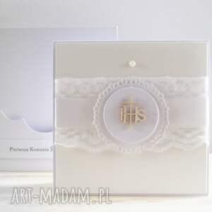 Zaproszenie na Pierwszą Komunię Świętą - HC 07 - Handmade