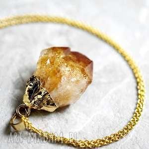 lamore naszyjnik z kamienia półszlachetnego, zawieszka, cytryn, kamień, minerał