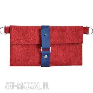 27-0009 Czerwony organizer do torebki na damskie dodatki JASMINE, organizer-damski
