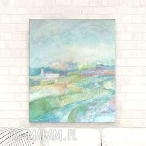pejzaż obraz olejny, płótno olej, ręcznie malowany, krajobraz