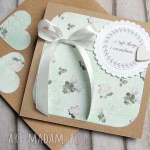 kartka ślubna handmade :: ROSARIUM mint, ślub, ślubna, mięta
