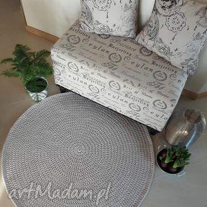 okrągły dywan ze sznurka bawełnianego - 120