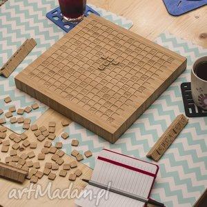 handmade ślub gra logiczna - słowna z drewna bambusowego