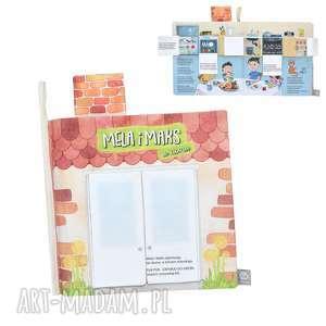 Książka z okienkami - Mela i Maks w domu , książka, książeczka, sensoryczna, okienka