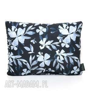 poduszka podusia 30 x 40 jasiek blue flowers - bawełna, milutka, minky