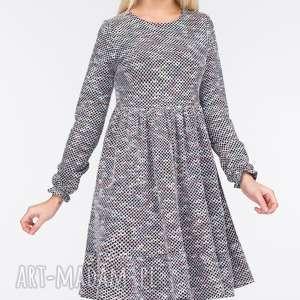 Sukienka SYLVIA Mini Emilia, marszczona, mini, błyszcząca, sukienka, urocza