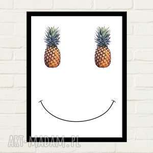 PINEAPPLE SMILE Plakat 30x40, minimalizm