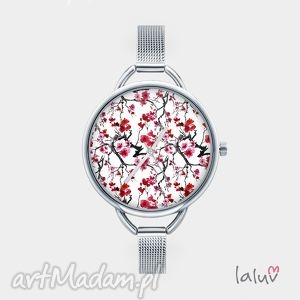 hand-made zegarki zegarek z grafiką japan flowers